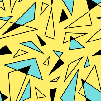 Triangles Yellow & Turquoise