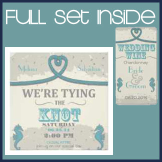 Teal Nautical Tying the Knot Wedding Collection