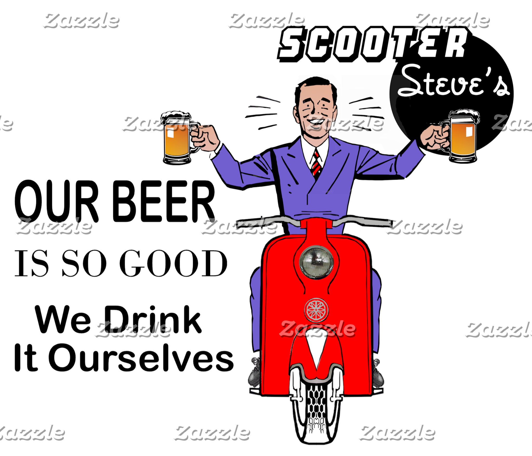 Scooter Steve's Our Beer