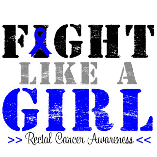 Fight Like a Girl Distressed - Rectal Cancer