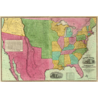 Map Of The United States Of America 1833