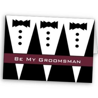 TUXEDO Be My Groomsman