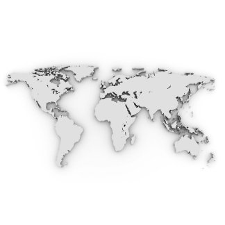 3D World map, computer generated image