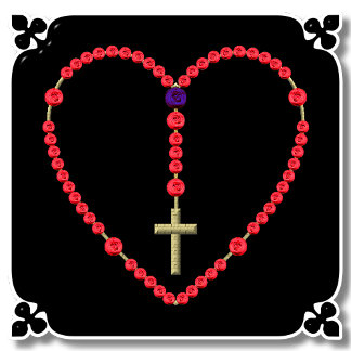 ROSARY: RED & BLUE BEADS