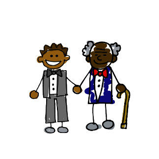 Young Old Black Gay Couple