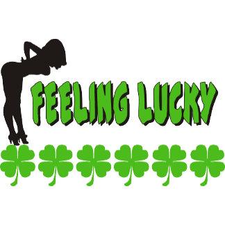 Naughty Women's Feeling Lucky Irish T-Shirt