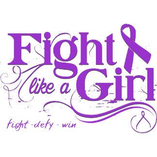 Epilepsy Fight Like A Girl Elegant