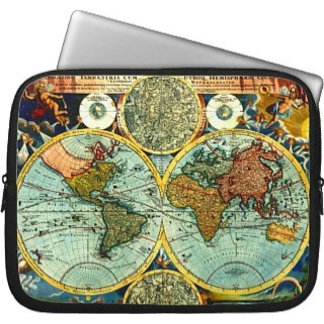 Laptop Sleeve Case / Fabric Zippered Protects