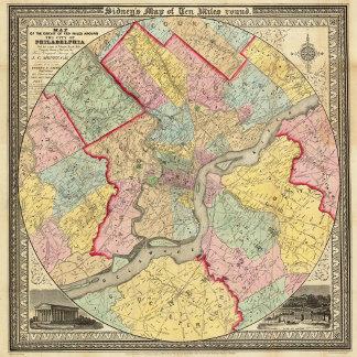 Map Around The City Of Philadelphia