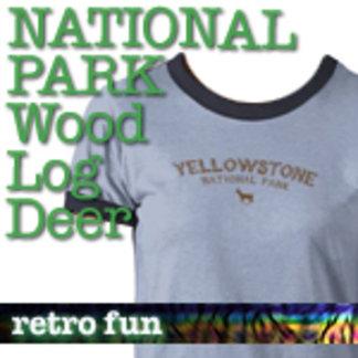 Wood Log Deer National Park T-Shirts