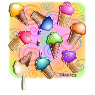 i. ICE CREAM CONE POP ART