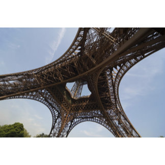Eiffel Tower in Paris, low angle view