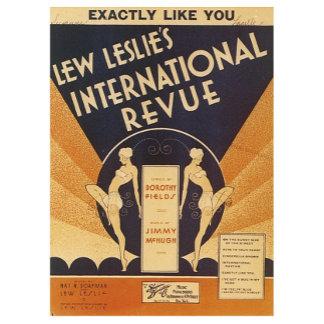 Lew Leslie's International Revue Vintage Song Art
