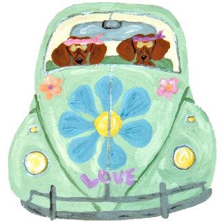 Dachshund Hippies In Flower Love Mobile