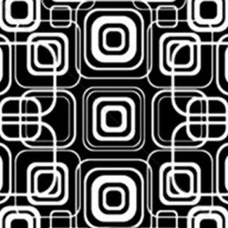 White Circles/Squares on Black Background