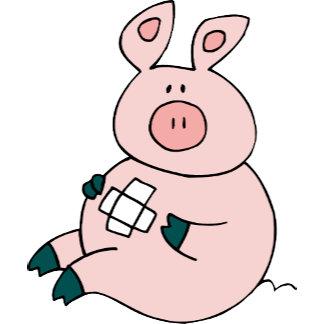 Pig Piggy Doctor Nurse Bandage Clinic Office