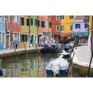 Island of Burano, Burano, Italy. Colorful 2