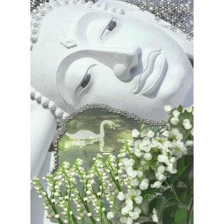 In the Garden - Quan Yin & Flowers