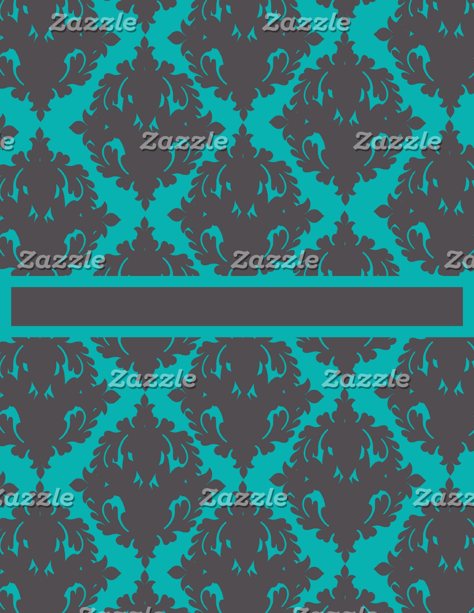 Blue and Silver Damsk Pretty Pattern