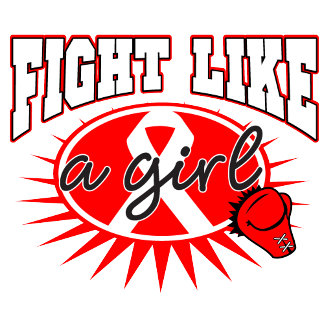 Blood Cancer Fight Like A Girl Sporty Callout