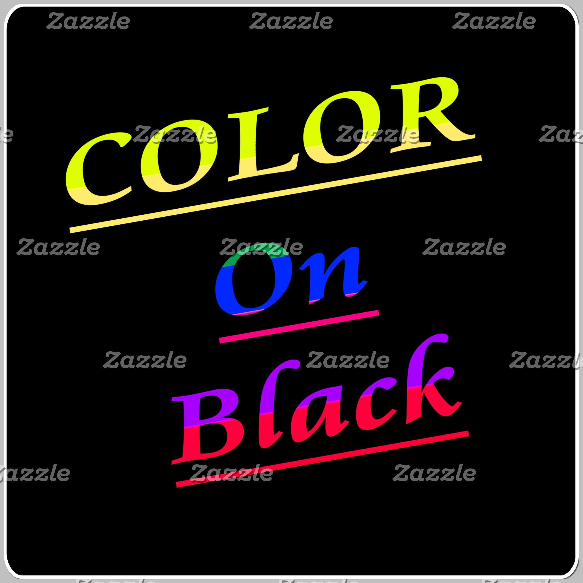 Color On Black T-Shirts