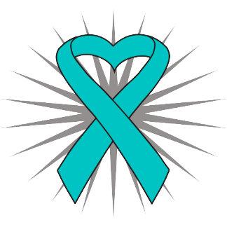 Ovarian Cancer Heart Ribbon