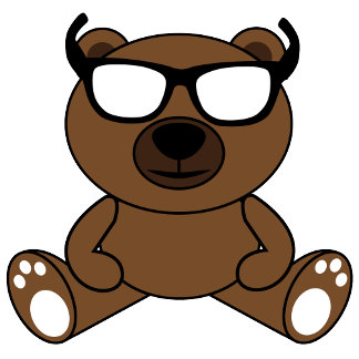 Cool bear with sunglasses