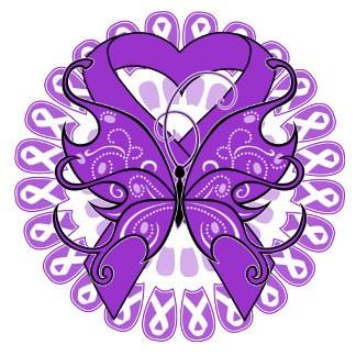 Epilepsy Butterfly Circle of Ribbons