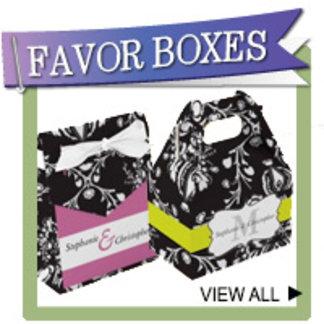 Monogram Favor Boxes