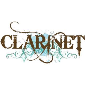 Clarinet Blue Grunge T Shirt
