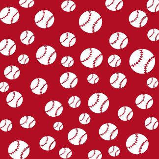 Baseballs - Red Background