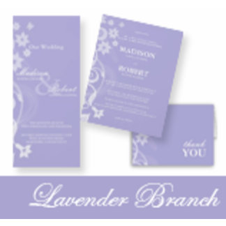 Lavender Branch Wedding Invitations