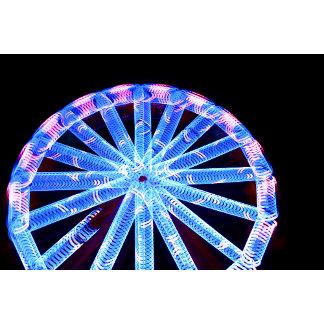 circle ride neon abstract circus fair midway