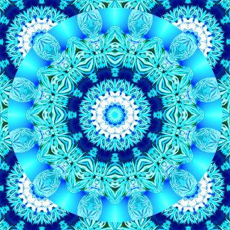 Blue Ice Lace Doily