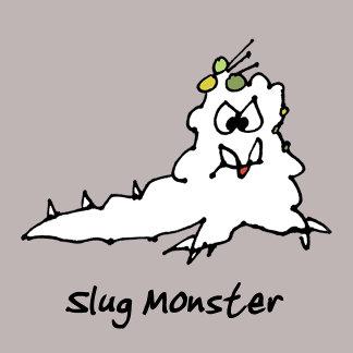 Cartoon Slug Monster