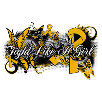 Appendix Cancer Fight Like A Girl Grunge Butterfly