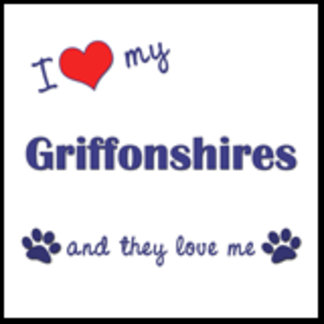 I Love My Griffonshires (Multiple Dogs)
