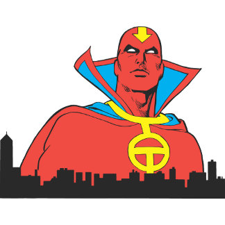 Red Tornado Behind Cityscape