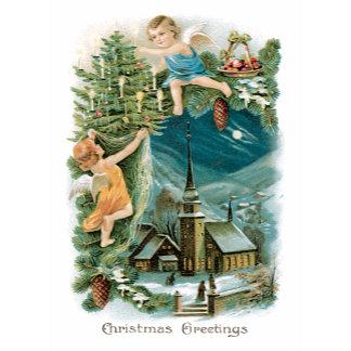 Christmas Greetings ~ Christmas Tree Angels