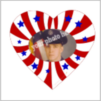 Red White Blue Heart Photo