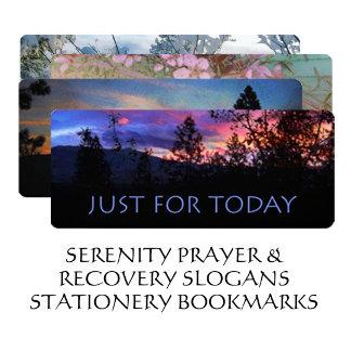 Serenity Prayer Stationery Bookmarks