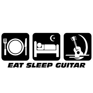 eat sleep guitar