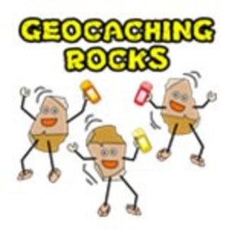 Three Geocaching Rocks