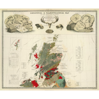Geological, palaeontological map British Islands