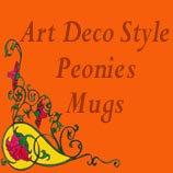 Art Deco Style Peonies Mugs