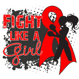 Blood Cancer Fight Like A Girl Grunge