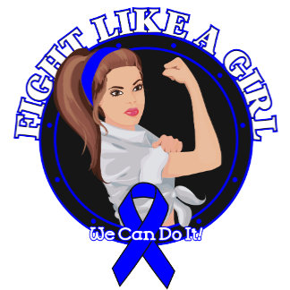 Colon Cancer Fight Like A Girl Modern Rosie