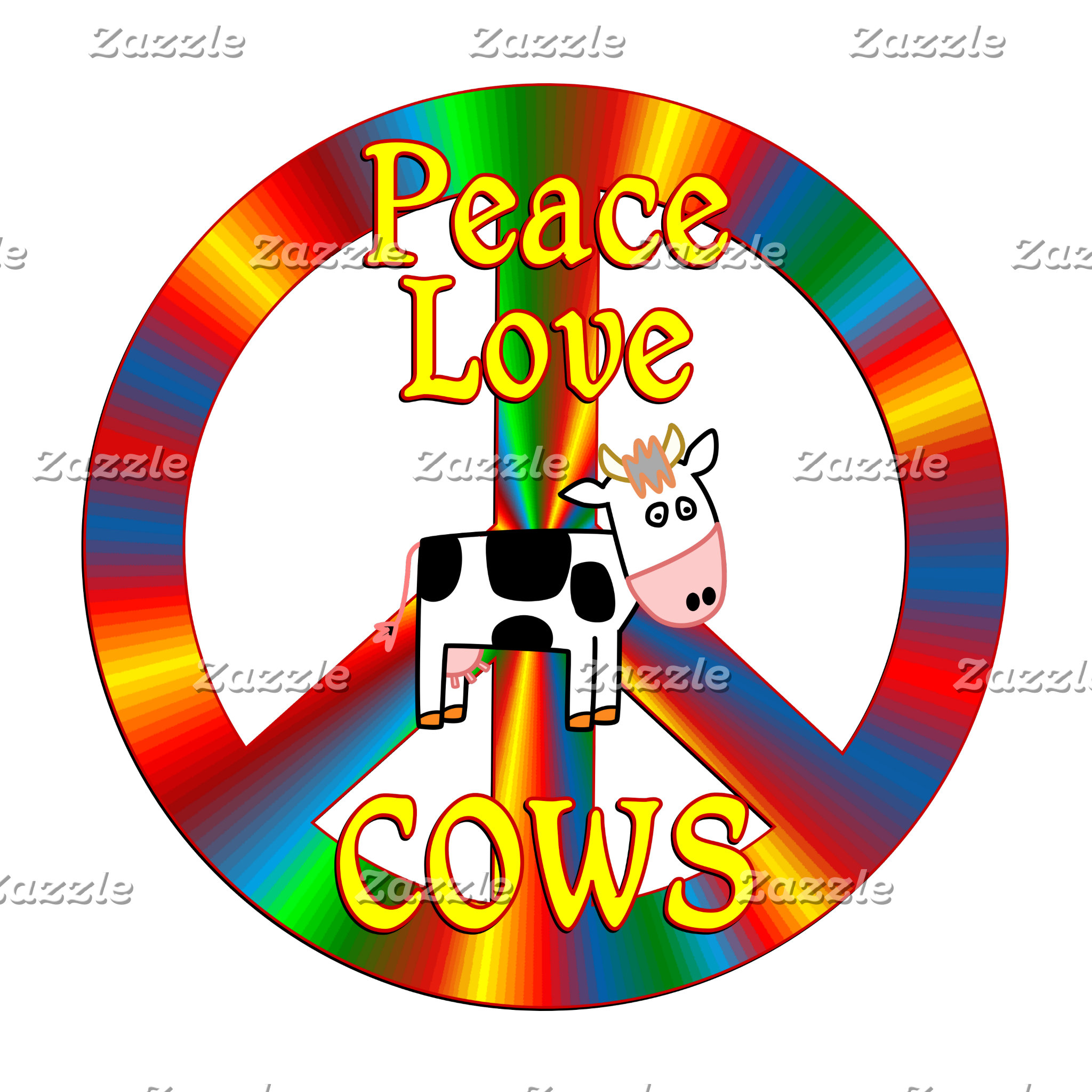 Peace Love Cows