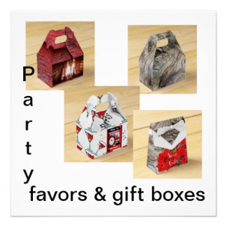 Favor and wine gift boxes