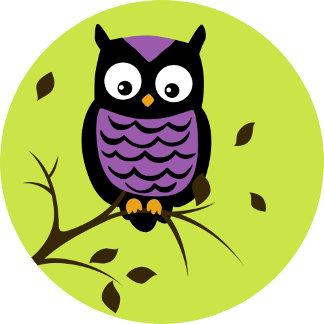 Halloween Cute Owl in Tree